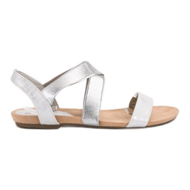 Evento grey Slip-on Sandals With Elastic Band