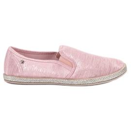 Balada pink Shiny Sneakers Slip On