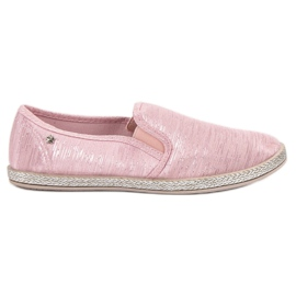 Balada Shiny Sneakers Slip On pink