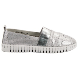 Filippo grey Slip-on Footwear With Brocade