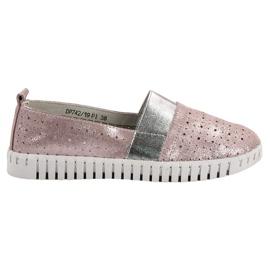 Filippo pink Slip-on Footwear With Brocade