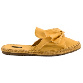 Yellow Built-in VICES slippers