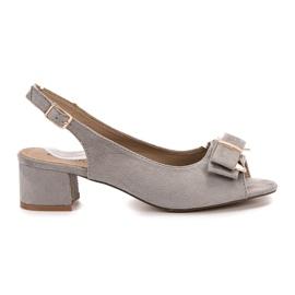 Evento grey Elegant high-heeled sandals