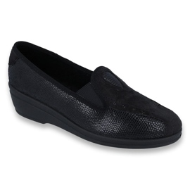 Black Befado women's shoes pu 035D002