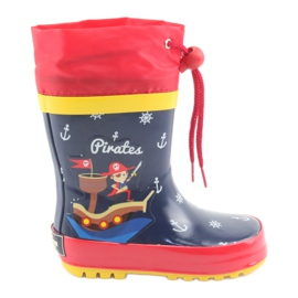 American Club American children's rain boots. Pirate red navy