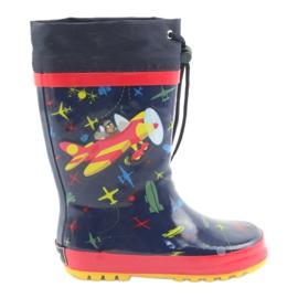 American Club American children's rain boots. SamoLot red navy