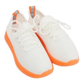Sports shoes white and orange NB283 Fluorescence Orange