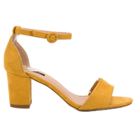 Yellow Stylish VICES Sandals