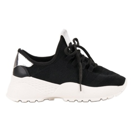 Vices black Textile Sport Shoes