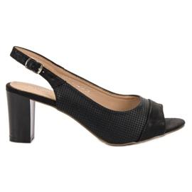Evento Elegant Black Sandals