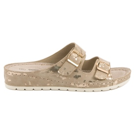 Goodin yellow Slippers With Buckle
