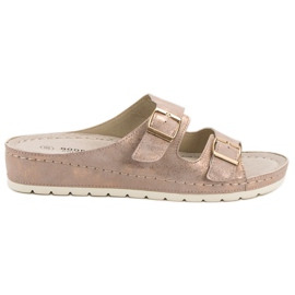 Goodin pink Slippers With Buckle