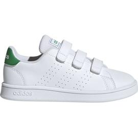 White Adidas Advantage C Jr EF0223 shoes