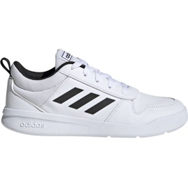 White Adidas Tensaur K Jr. EF1085 shoes