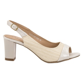 Evento brown Elegant Beige Sandals
