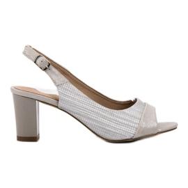Evento grey Elegant silver sandals