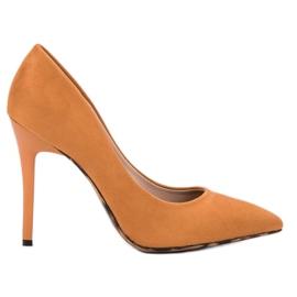 Erynn orange Pumps On High Heel