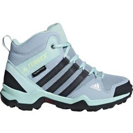 Blue Adidas Terrex AX2R Mid Cp Jr BC0672 shoes