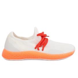 Sports shoes white-orange B-6851 Orange