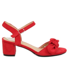 Red heeled sandals FH-3M22 Red