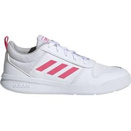 White Adidas Tensaur K Jr. EF1088 shoes