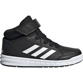 Black Adidas AltaSport Mid K Jr G27113 shoes
