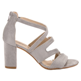Evento grey Suede Sandals On A Bar