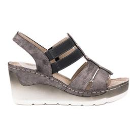 Goodin grey Comfortable Wedge Sandals