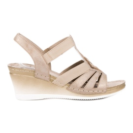 Goodin brown Slip-on Wedge Sandals