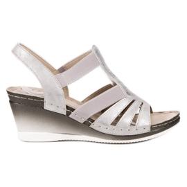 Goodin grey Slip-on Wedge Sandals