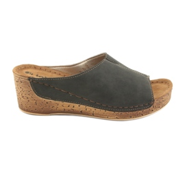 Women's slippers Inblu NG002 black brown