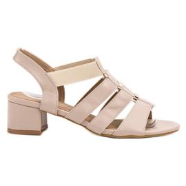 Evento brown Slip-on High Heels