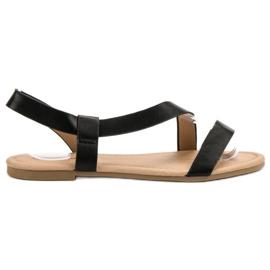 Primavera black Slip-on Flat Sandals