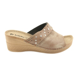 Brown Women's slippers Inblu OS007