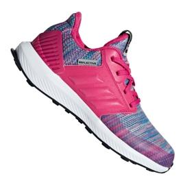 Pink Adidas RapidaRun Btw Jr AH2603 shoes