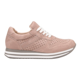 Kylie pink Sport Shoes With Eco Leather