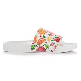 Vices white Fruit Slippers