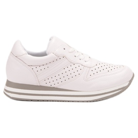Kylie white Sport Shoes With Eco Leather