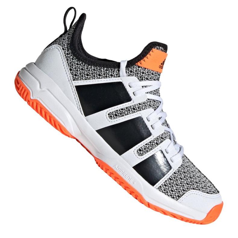 Adidas Stabil Jr F33830 handball shoes white black grey