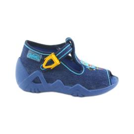 Boys' slippers Befado 217P103 navy blue