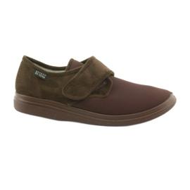 Brown Befado 131M005 slippers for diabetics