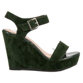Vinceza green Suede Sandals