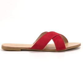 Primavera Comfortable Flat Slippers red
