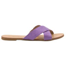 Primavera Comfortable Flat Slippers violet