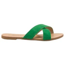 Primavera green Comfortable Flat Slippers