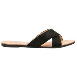 Primavera black Comfortable Flat Slippers