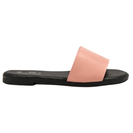 Clowse pink Classic Powder Slippers