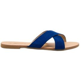 Primavera blue Comfortable Flat Slippers