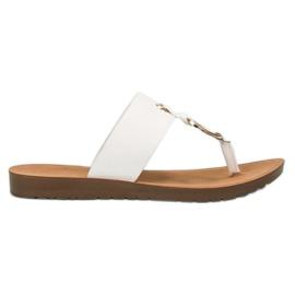 White Stylish VINCEZA flip-flops