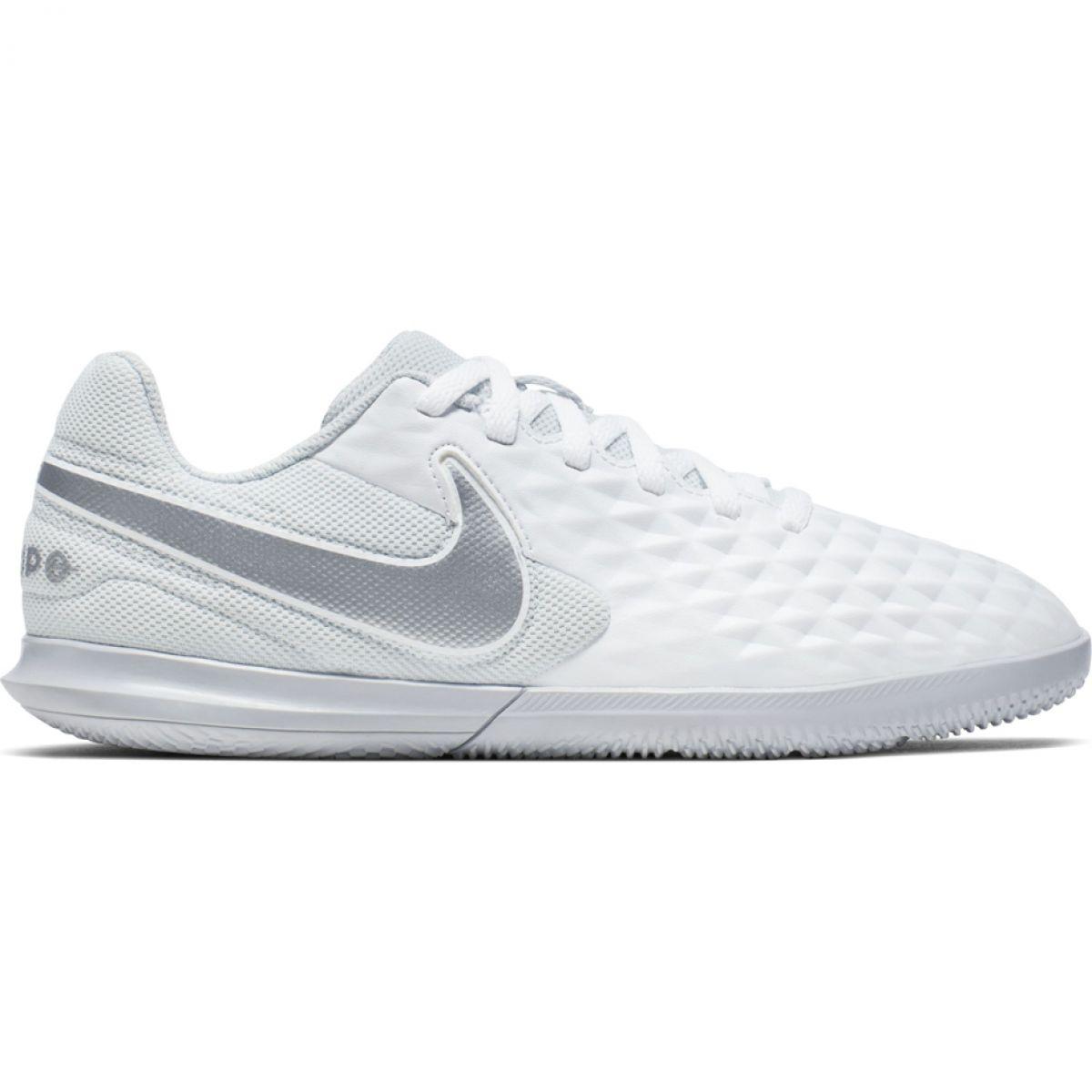 Terminal Para editar hostilidad  Indoor shoes Nike Tiempo Legend 8 Club Ic Jr AT5882-100 white white -  ButyModne.pl